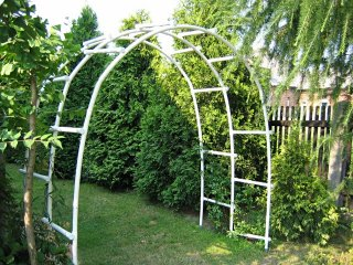 Pergola ogrodowa PCW - pojedyncza