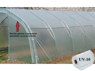 Płachta Główna UV10 na tunel metalowy BUTIMEX - 12,00 x 4,00 x 2,15m