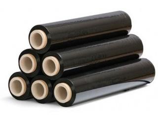 Folia stretch ręczna - czarna - szerokość 500mm - grubość 23mic - 6 rolek