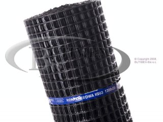 Siatka kontenerowa (plastikowa) K003 (K3) - czarna 1,20 x 25 mb