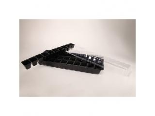 Miniszklarenka MS2 z tacą i 30 doniczkami do uprawy - 60 x 22cm