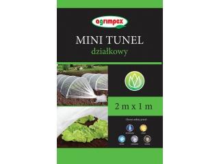 Mini tunel działkowy na rozsady o rozmiarze 2 x 1m z agrowłókniną