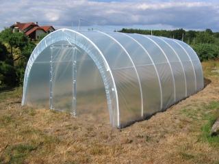 Tunel foliowy z PCW dla działkowców długości 10 m - wysyłka pobraniowa