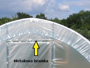 Tunele foliowe ogrodnicze PCV PCW - bramka metalowa