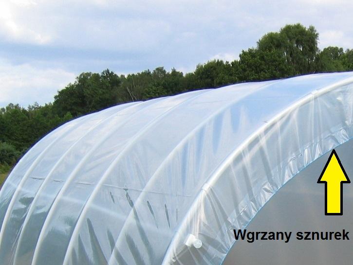 Tunele foliowe ogrodnicze PCV PCW - wgrzany sznurek 1