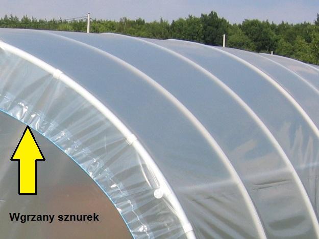 Tunele foliowe ogrodnicze PCV PCW - wgrzany sznurek 2