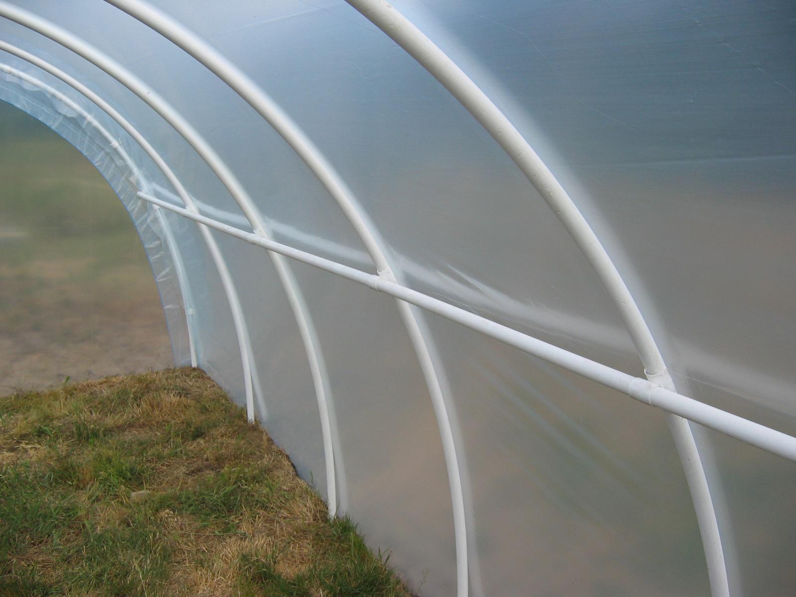 Tunele foliowe ogrodnicze PCV PCW - rozstaw palakow